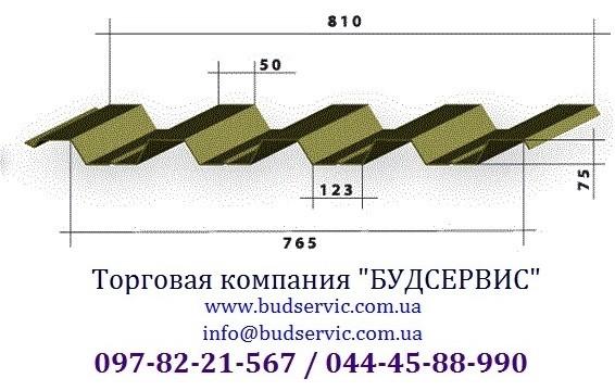 Профнастил кровельный ПК-75 0,45 Глянец, Украина (МиП). Уместен разумный торг!