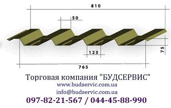 Профнастил кровельный ПК-75 0,45 Мат, Украина (МиП). Уместен разумный торг!