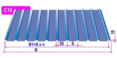 Профнастил Н-35 0,45 мм 1,13*6,0 м