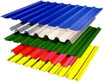 Профнастил ПС-10. Оттенки по шкале RAL. Изготавливается из рулонной оцинкованной стали, длина может быть 0.5-10 метров