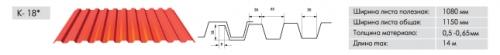 Профнастил ПС-20/ПК-20 аналогичен профилю С-10, но обладает большей жесткостью