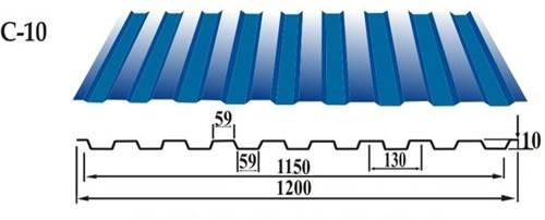 Профнастил С 10 стеновой профнастил