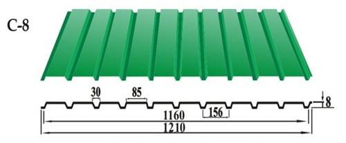 Профнастил С-8 стеновой профнастил