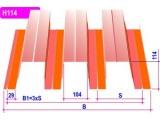 Профнастил С8 0,5 мм 1,2*1,2 м 6005