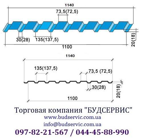 Профнастил стеновой ПС-20 0,45, Мат, Украина (МиП) Уместен разумный торг!