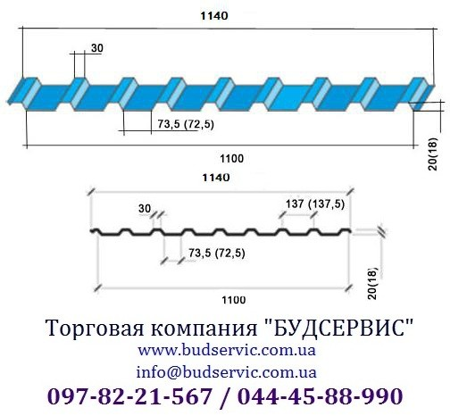 Профнастил стеновой ПС/ПК-20 0,45, Глянец, Индия (National)/ Уместен разумный торг!