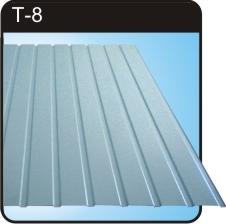 Профнастил Т-8 Применяется для облицовывания стен, потолка.