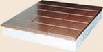 Производство и продажа стенового утеплителя Теплые плитки. Представляет собой офактуренный бетоном пенопласт.