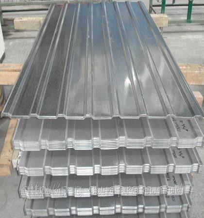 Производство! Оцинкованный профнастил в Алуште. Высота волны 20 мм. Лист 2000х910. http://vk. com/stroy_magnat