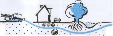 Прокладка гильзы под дорогой из полиэтиленовой трубы методом ГНБ (прокол)