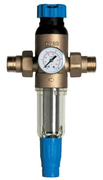 Промывной фильтр Экософт F-M-S1/2CW-R с регулятором давления
