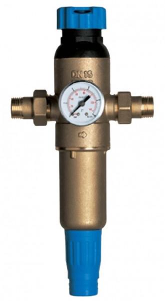 Промывной фильтр Экософт F-M-S1/2HW-R с регулятором давления