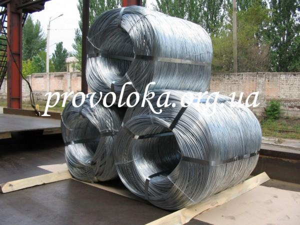 Проволока оцинованная т/н твердая ф5,0мм ГОСТ 3282-74 для произоводства металический изделий(сетки, сушки, вешалки)