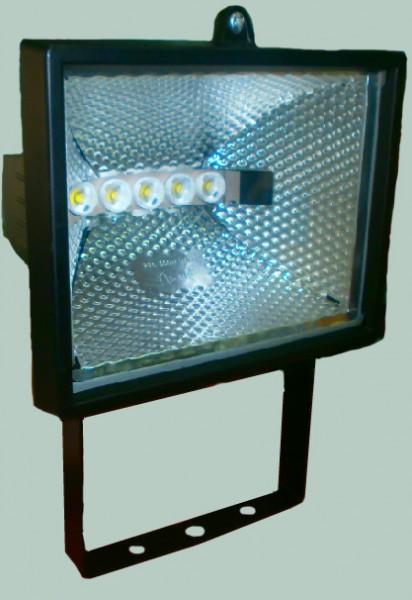 Прожектор на 5-х мощных светодиодах, световой поток 1250Лм, с линзами, потребление 11 Вт, аналог лампы 250Вт!