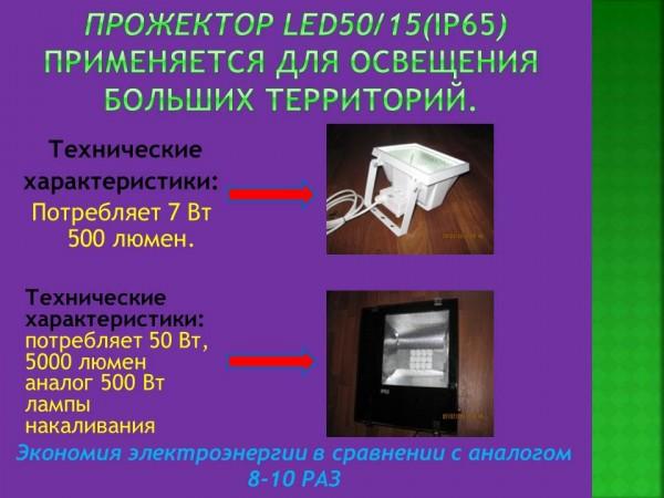 Прожектор светодиодный LED 4515 (IP65) Потребление 45 Вт, 5000 люмен. Аналог 500 Вт ЛН