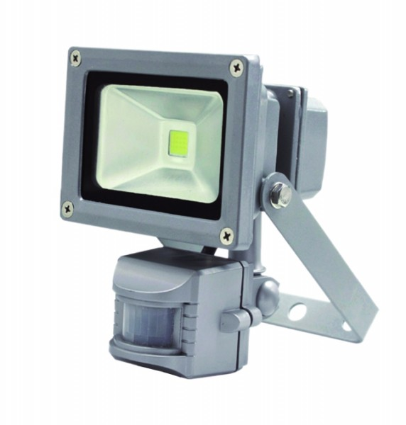 Прожектор светодиодный с датчиком движения LFS-10 (Холодный белый 5500-6500K)