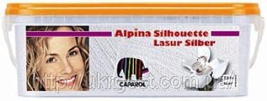 Прозрачная финишная декоративная лазурь Alpina Silhouette Lasur Gold Silber