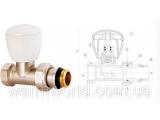 Фото  1 Прямой радиаторный клапан (1/2) Firat 2022952