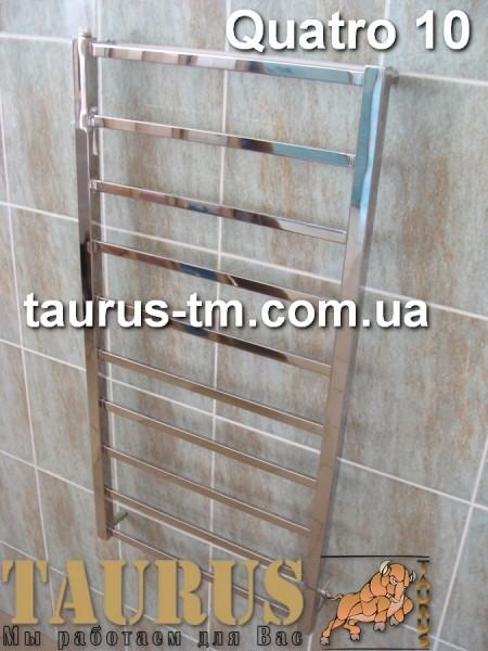 Quatro 10 / 500- нержавеющий полотенцесушитель. Размеры под заказ. . Доставка по Украине.