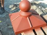 бетонні дашки на огорожу ПОЛКА С ШАРОМ