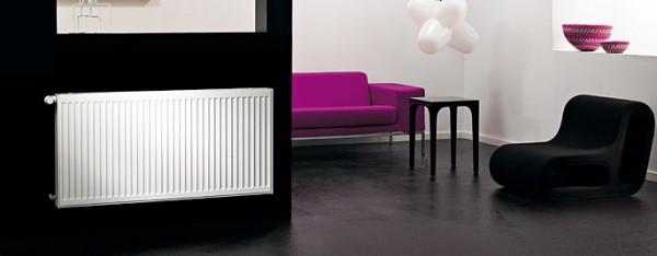 Радиатор водяного отопления Purmo 22 500/900 с тепловой мощности радиатора достаточно для помещения площадью 16 м. кв.