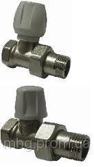 Радиаторный клапан D1/2, запорный угловой, белый