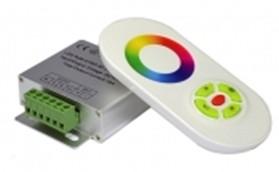 Радио RGB Контроллер 18А (белый сенсорный пульт) №55