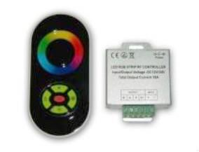 Радио RGB Контроллер 18А (черный сенсорный пульт) №55/1