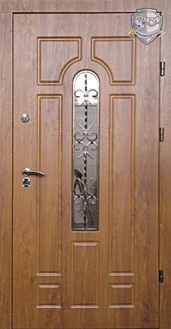 Входные двери Рама-2мм/полотно-2мм /толщина створки-76 мм/утеплитель-пенопл аст/МДФ панель 12 мм/2 замка