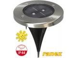 Встраиваемый грунтовой солнечный светильник Ranex LED Solar IP44 с датчиком освещенности круглый