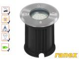 Грунтовой ландшафтный светодиодный светильник Ranex Bolton с теплым светом, IP65, матовая сталь