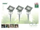 Комплект светодиодных ландшафтных светильников Ranex LED Evita IP67, сталь, стекло