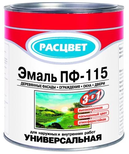 RASCVET (ТМРАСЦВЕТ)эмаль ПФ-115 в ассортименте, все цвета, банки 2,8кг, бочки 50кг, доставка, кг