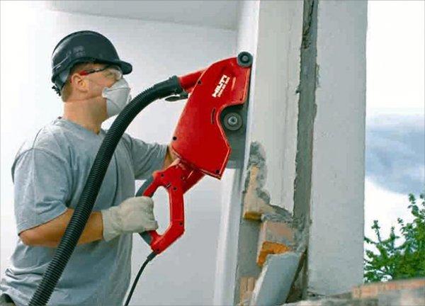 Расширение проемов в кирпичной стене на промышленных объектах - резка, пробивка, вырезание
