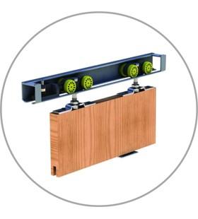 Раздвижная система Verto-SLIDE, декоративная накладка на направляющую и отбойный брус в комплекте.