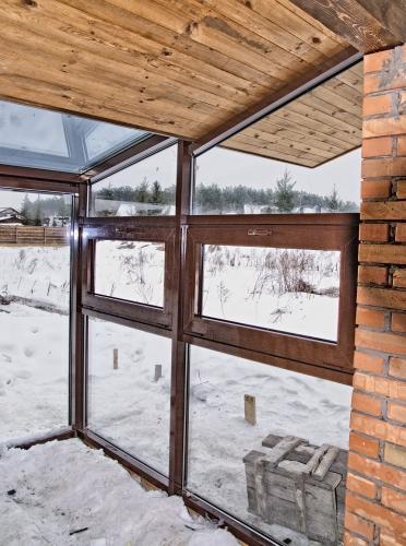 Раздвижные окна из профиля REYNAERS