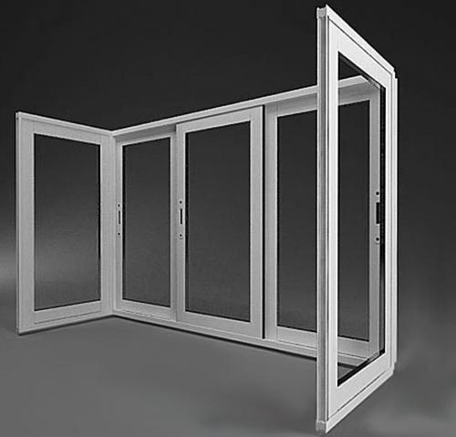 Раздвижные оконные блоки из холодного и теплого алюминия