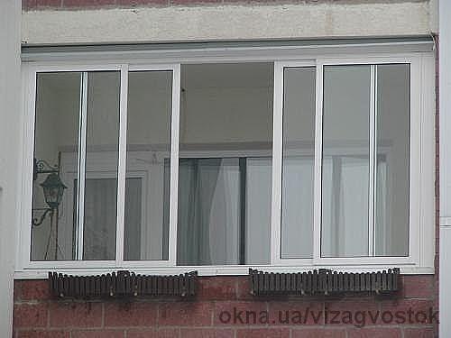Раздвижные системы SWS. Балкон ш3000 выс 1500