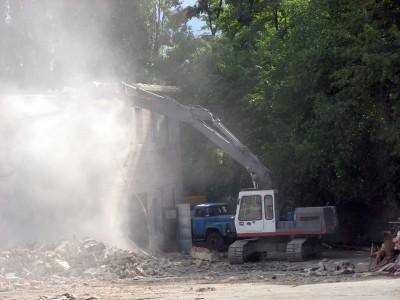 Разрушение бетонных конструкций (фундаментов, монолитных полов, потолков, стен, асфальта и пр.)
