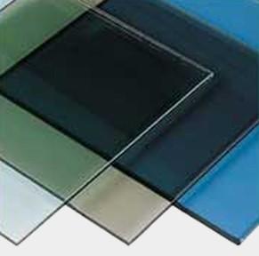 Рефлекторное стекло 4 мм. Цвет - синий, зелёный, бронза, графит