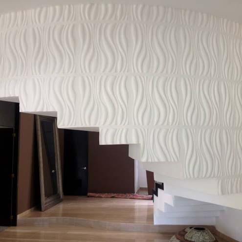 Рельефная панель Волны, декоративные панели