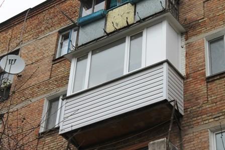 Ремонт балкона под ключ в хрущёвке правый берег цена 23000 г.