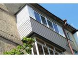 Ремонт балкона с крышей в сталинке
