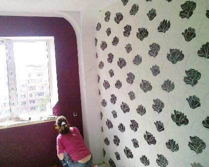 Ремонт обои Поклейка обоев в Киеве Недорого