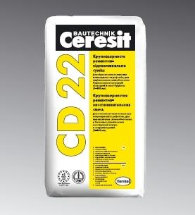 Ремонтно-восстановит . крупнозернистая смесь Ceresit CD 22-для ремонта бетонных и ЖБК с глубиной повреждений 30–100 мм