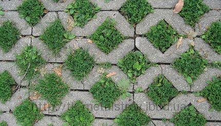 Решетка для газона бетонная