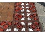 Фото  2 Решетка гармония (цвет на сером цементе) 8 см. 2942793