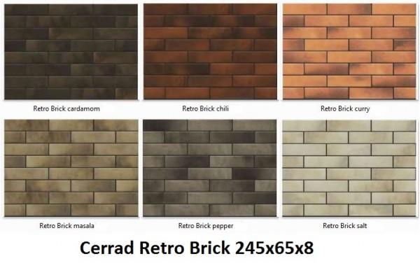 Retro Brick 245x65x8
