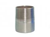 Фото  1 Резьба короткая Ду80 (3) нержавеющая сталь AISI 316L 1934530