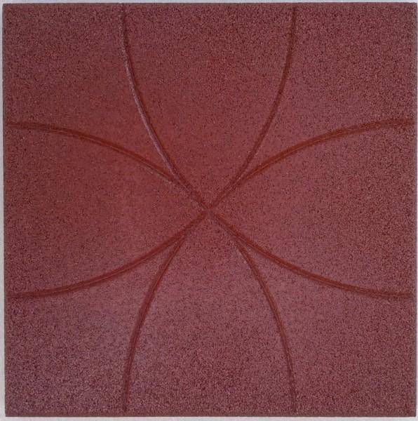 Резиновая плитка Окружность&quo t;, толщина 30 мм, 350*350 мм
